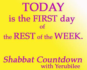 Shabbat Countdown 1